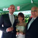 freie Trauung Saloppe Dresden - Carsten Riedel und Brautpaar