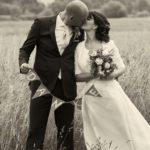 Das glückliche Brautpaar - freie Trauung Saloppe Dresden