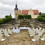 Secret Place Schloss Thallwitz, Blick auf das Schloss, Gartenseite