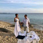 Auslandstrauung, Erneuerungs-Ja, Strandtrauung Sardinien, Brigitte und Domenico