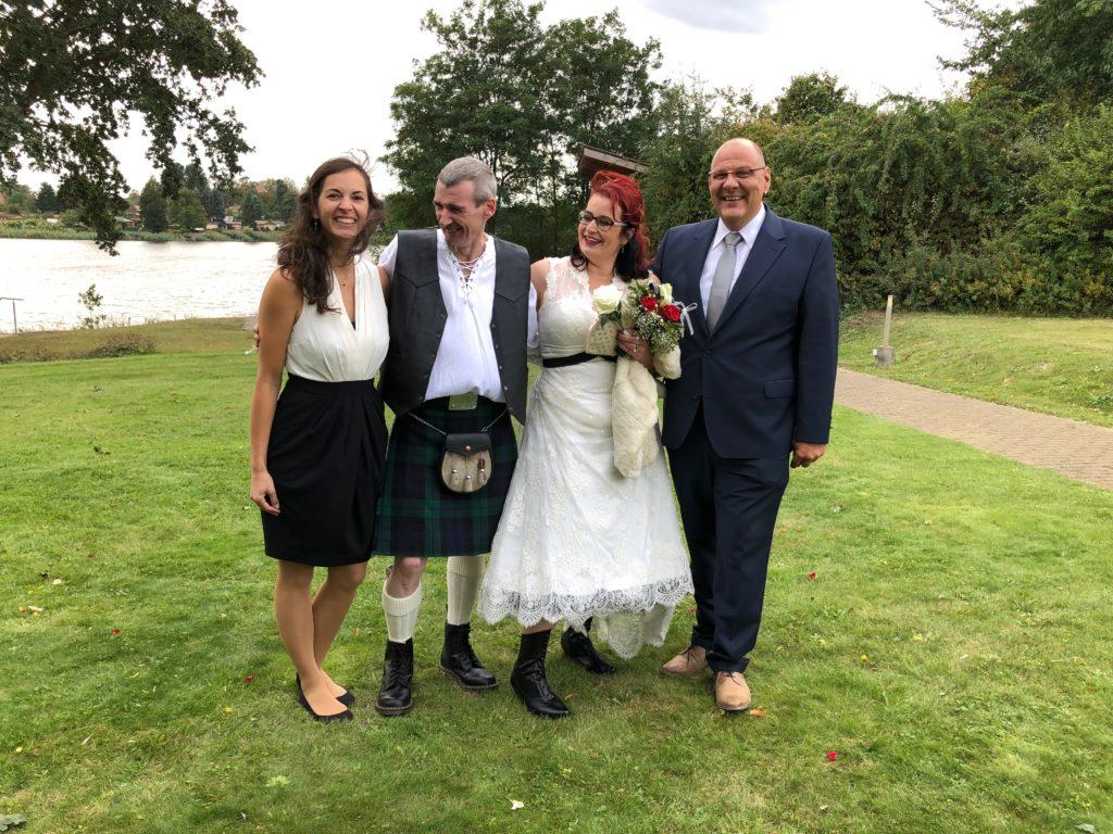 zweisprachige Hochzeit in Brandenburg – Deutschland vs. Schottland