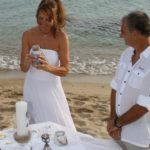 Strandhochzeit auf Sardinien - Brigitte und Domenico Sandzeremonie, Freie Trauredner Ines Wirth, Hochzeitsredner Carsten Riedel