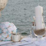 Strandhochzeit auf Sardinien, Trautisch, Hochzeitsredner Carsten Riedel