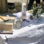 Hochzeitstisch, Trauung Carsten Riedel