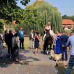 Trauung Kloster Nimbschen - Ankunft der Braut mit Pferd