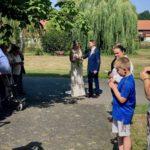 freie Trauung Kloster Nimbschen - Brautpaar nach der Hochzeit