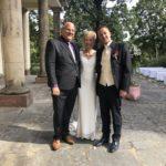 freie Trauung in Leipzig - Carsten Riedel mit Brautpaar