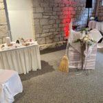 freie Trauung im Hotel am Schloss Apolda, Deko im Bankettraum