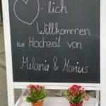 Willkommenstafel freie Trauung Mücheln