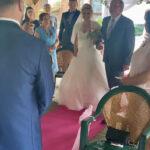 Braut Olivia beim Einmarsch