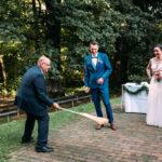 Freie Trauung in Bayern, Carsten Riedel mit Brautpaar bei der Trauung