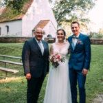 Carsten Riedel mit Brautpaar